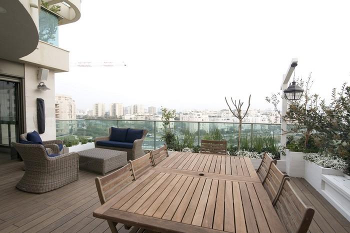 עיצוב גינות גג בתל אביב