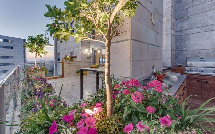 עיצוב גינה במרפסת של אורית ויואב